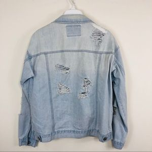 Forever 21 Jackets & Coats - Forever 21 Light Blue Distress Denim Jacket